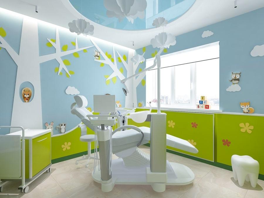 Интерьер детского кабинета в стоматологии Leo Dent